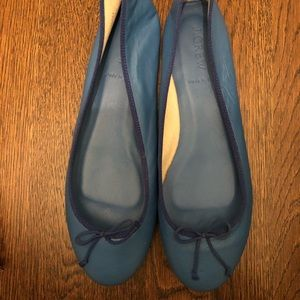 JCrew Leather Ballet Flats - cobalt blue size 8.5